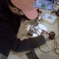 Potential Member desoldering some electronics